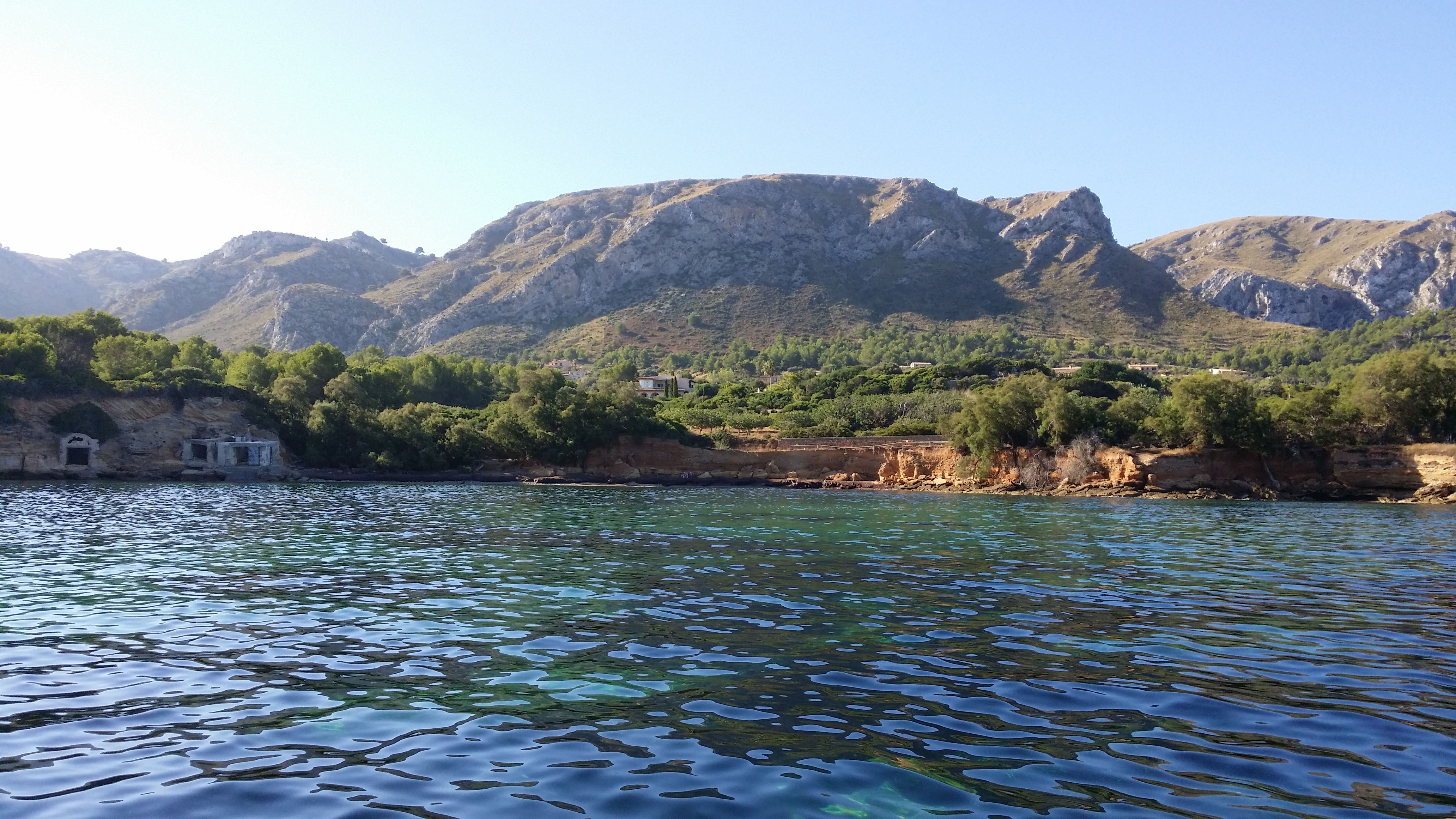 Die Finca vom Boot aus / the finca from the boat