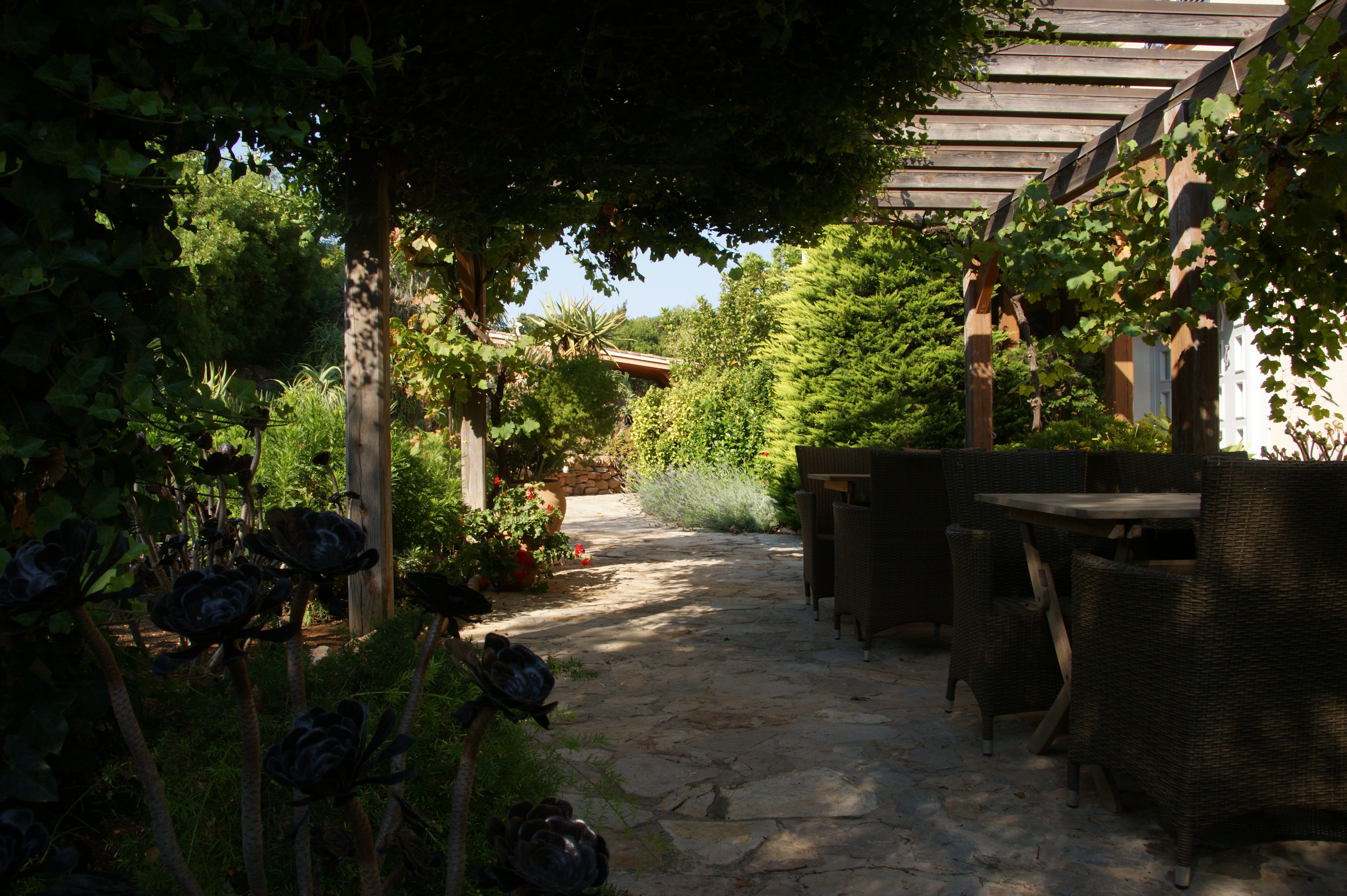 Terrasse vor dem Haus / Terrace in front of the house