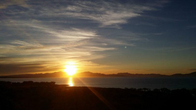 Sonnenuntergang auf der Naturterrasse Sunset on the natural terrace/